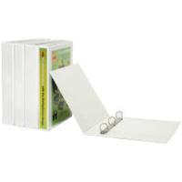 MARBIG A4 4XD 25mm CLEARVIEW INSERT BINDER WHITE