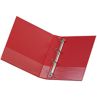 MARBIG A4 4DR 50mm ENVIRO INSERT BINDER RED