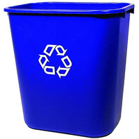 RUBBERMAID DESKSIDE RECYCLING CONTAINER WITH SYMBOL MEDIUM 26.6L BLUE