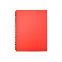 DISPLAY BOOK A4 REFILLABLE 20 POCKET GLOSS RED