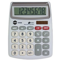 MARBIG CALCULATOR COMPACT DESKTOP 8 DIGIT SILVER