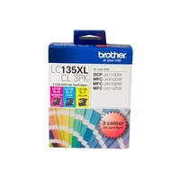 BROTHER LC-135XL COLOUR INKJET CARTIDGE VALUE PACK 3