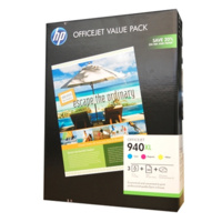 HP 940XL INK CARTRIDGE VALUE PACK (CYAN MAGENTA AND YELLOW)