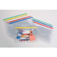 MARBIG CLEAR CASE WITH ZIP A4 335x245mm ASSORTED