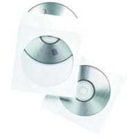 PAPER CD ENVELOPES CLEAR WINDOW PACK 100