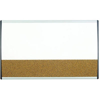 QUARTET ARC COMBO BOARD CORK ALUMINIUM 760X460MM