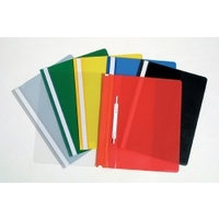 MARBIG CLEAR FRONT FLAT FILE A4 ASSORTED PACK 50
