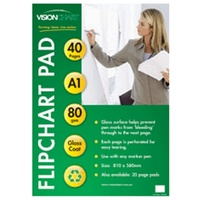 FLIP CHART PAD SEMI GLOSS WITH 40 PAGES