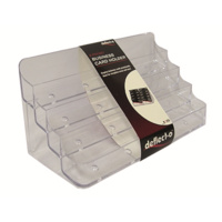 DEFLECT-O 70801 CLEAR BUSINESS CARD HOLDER 8 UP