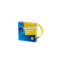 AVERY 937239 ROUND LABELS 14mm YELLOW BOX 1050