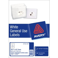 AVERY 938207 L7165GU GENERAL USE LASER INKJET COPIER LABELS 8 PER PAGE 100 SHEETS