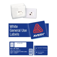 AVERY 938211 L7158GU GENERAL USE LASER INKJET COPIER LABELS 30 PER PAGE 100 SHEETS