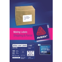 AVERY 959006 L7165 LASER LABELS PARCEL 8 PER SHEET WHITE PACK 100
