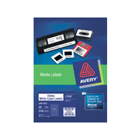 AVERY 959018 L7656-25 SLIDE LABEL 84 PER SHEET WHITE PACK 25