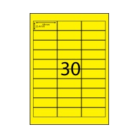 AUSSIE ECO FRIENDLY A4 LABELS 30UP FLURO YELLOW PACK 100
