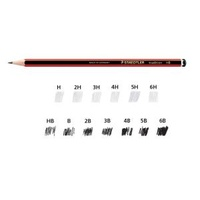STAEDTLER 110-4B TRADITION GRAPHITE PENCILS 4B BOX 12