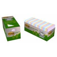 3M 654R-24CP-AP POST IT RECYCLED GREENER NOTES 73x73mm PASTEL CABINET PACK 24