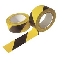 FLOOR MARKING SAFETY TAPE 48mm x 33m YELLOW BLACK