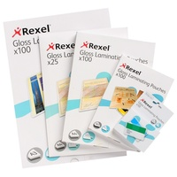 REXEL LAMINATING POUCHES A4 GLOSS 100 MICRON PACK 100