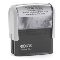COLOP P60 PRINTER SELF INKING CUSTOM MADE STAMP 76x37mm