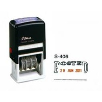 SHINY SELF INKING DATER S406 POSTED 2 COLOUR