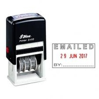 SHINY SELF INKING DATER S410 EMAIL 2 COLOUR