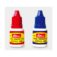 SHINY PREINKED STAMPS INK 10ml BLUE