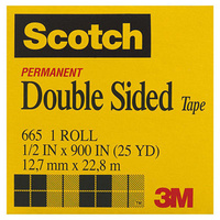 3M SCOTCH 665 DOUBLE SIDED TAPE 12.7mm x 22.8m